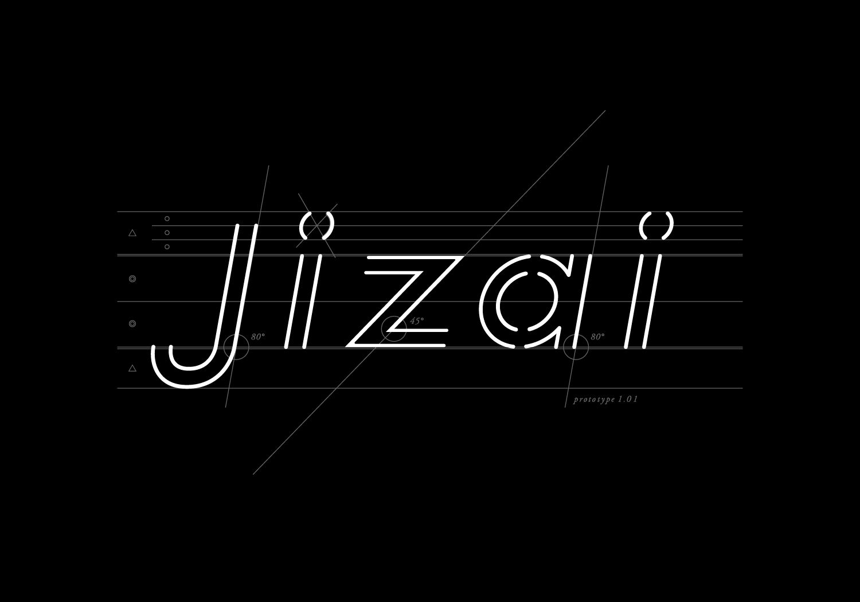 jizaiロゴ,名刺デザイン